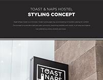 Toast & Naps Hostel Art Concept