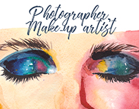 Identity for photographer and make-up artist