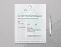 OCÉANE — Resume Template