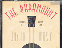 Vintage Poster - The Paramount & Music