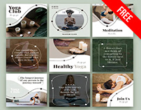 Free Yoga Posts Set