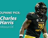 Miami Dolphins Draft Defensive End Charles Harris