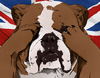 Worried British Bulldog for The Sunday Times Business