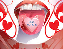 BE MINE- Valentines day Vector tribute