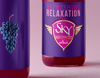 Sky carbonated juice branding