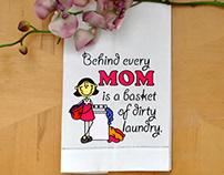 FUNNILY CELEBRATING MOM EMBROIDERY DESIGN