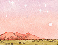 personal illustrations: cosmos & desert series 1