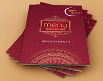 Traditional Design Restaurant Menu