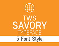 """TWS Savory"" font typeface"