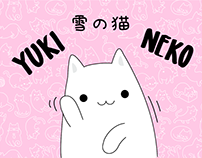 Yuki Neko Animated Stickers