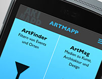ARTMAPP  APP, MOBILE WEBSITE