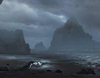 Mermaid_01 matte painting