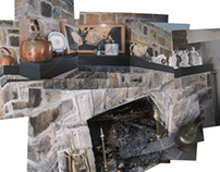 "Photo-collage ""Fireplace"""