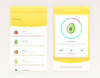 Food Calories App UI
