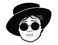 Yoko Ono vector portrait
