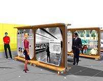 Mobiliário Itinerante e Exposição Memória Itaú