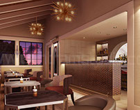 Architectural Interior Rendering of Bar Design Ideas