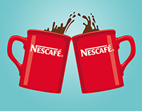 Nescafé Facebook illustrations