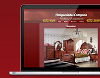 Antigüedades Campana |Diseño Web