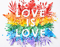 Love is Love | Paper art