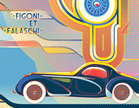 Talbot-Lago Speciale retro automotive posters