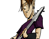 Guitar Player Character Design