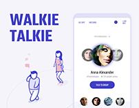 A walkie talkie app design concept