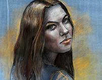 Portraits. Graphics