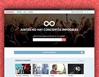 UI/UX Cooncert website