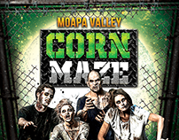 Moapa Valley Corn Maze Halloween Flyer design
