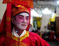 Chinese Cantonese Opera Artistes Backstage