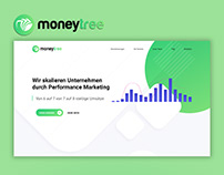 """Landing Page for """"Money Tree"""""""