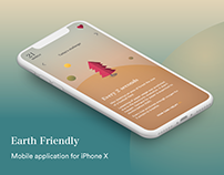 Earth friendly mobile app for iPhone X