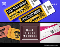 Best Full Free Ticket Mock-ups