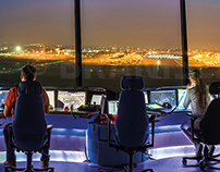 Brussels Airport - Panoramic photo of the control tower