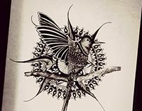Bird & Zentangle Design