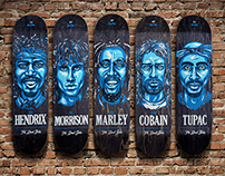The Dead Series Skateboards & Posters - Musical Legends