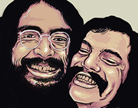 Cheech and Chong Sketch