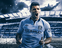 SERGIO AGUERO 2016/17 WALLPAPER