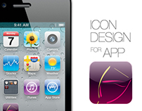 Icon design for iOS APP (Wine magazine)