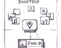 Concept Sketches For Roadtrip App