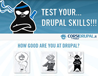 Test Your Drupal Skills, web and facebook app