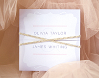 Wedding Invitation Stationery :: Olivia and James