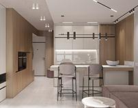 Small apartment, 37 m2 in Sochi, 2020.
