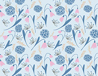 January Floral Pattern