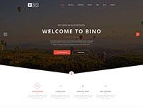 Bino Landing Page FREE PSD Template