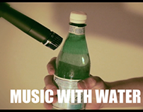 Music with water bottles