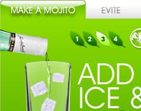 Bacardi Mojito banner gadget