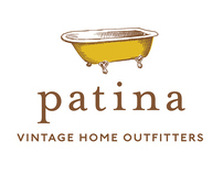 Patina: Vintage Home Outfitters name & brand identity