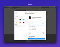 Apple.com Product Locator Modals